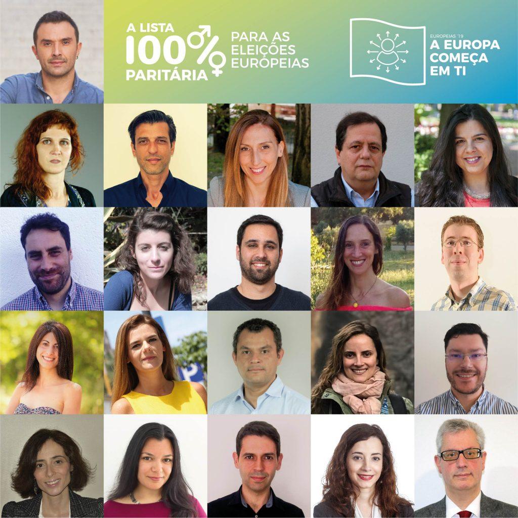 lista com todas as candidatas e candidatos às Europeias 2019