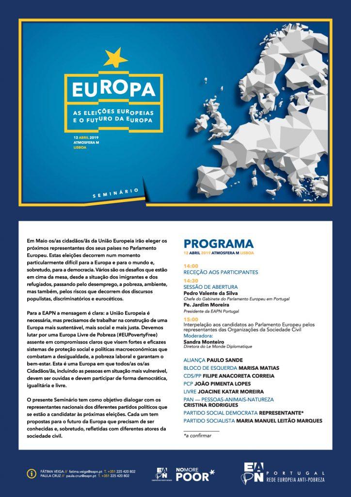 Imagem do Programa do evento sobre as Europeias 2019