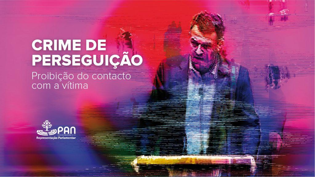 Imagem do vídeo da intervenção de André Silva no parlamento sobre os Crimes de Perseguição