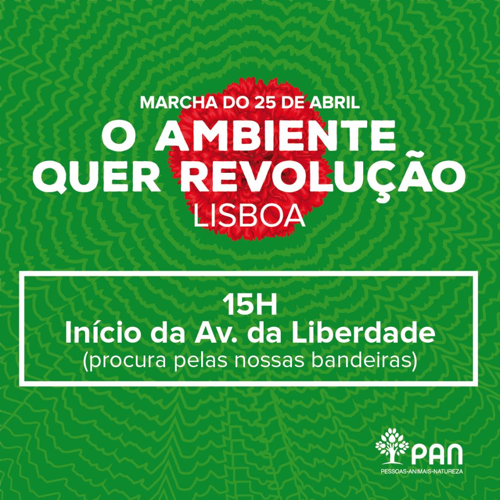 Ponto de Encontro Marcha 25 de Abril em Lisboa