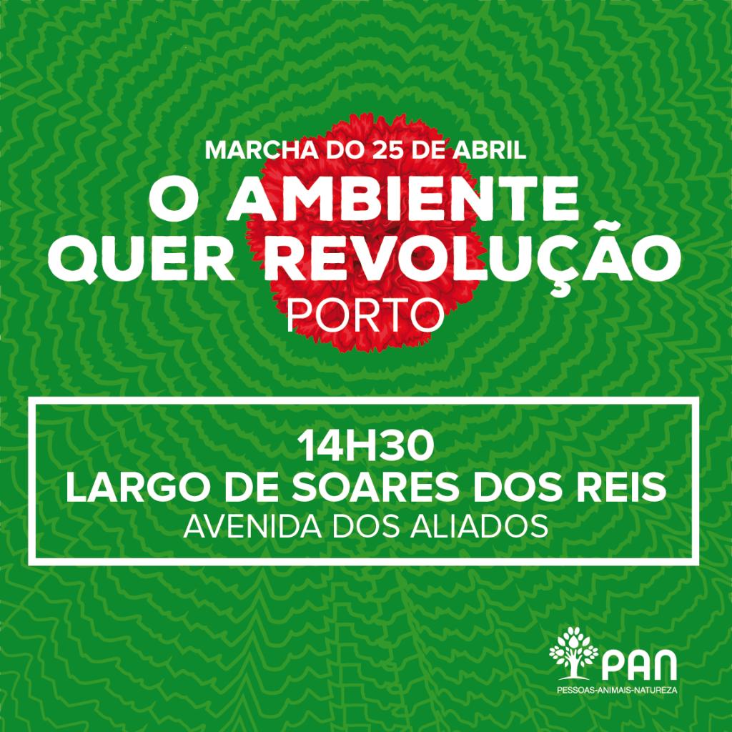 Ponto de Encontro Marcha 25 de Abril no Porto