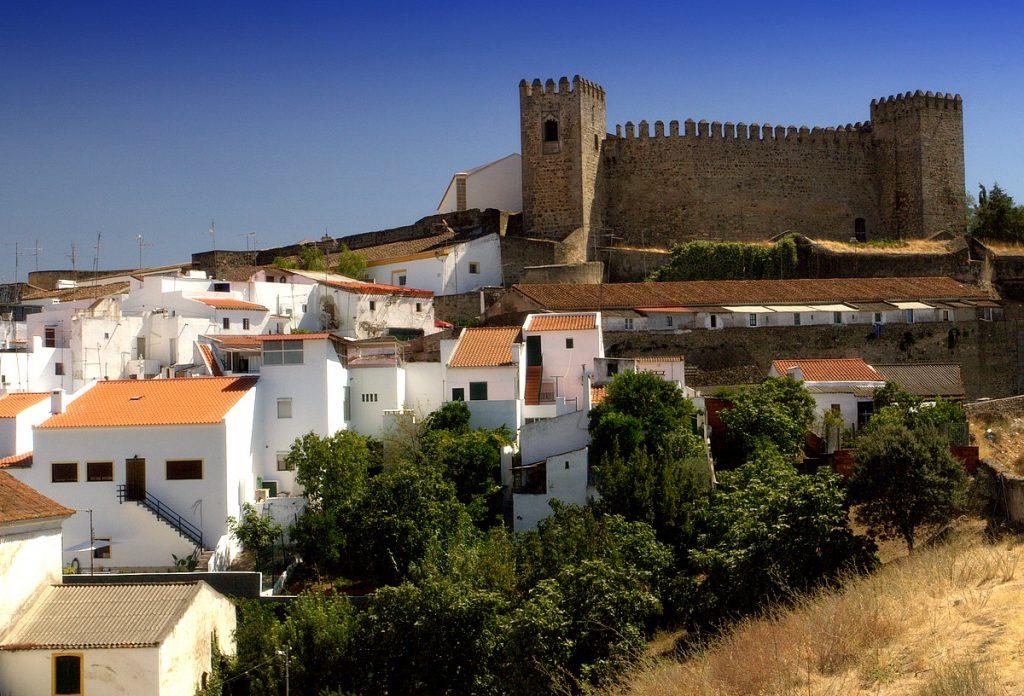 Fotografia com o Castelo de Campo Maior