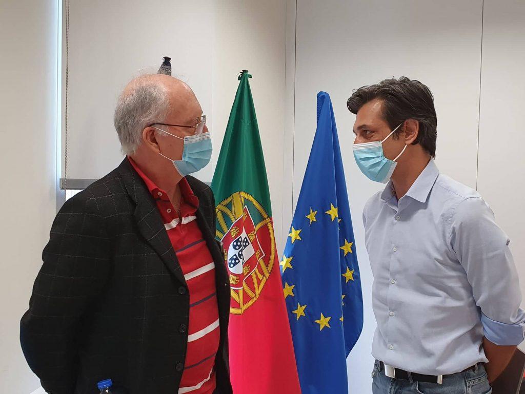 Porta-voz do PAN Açores Pedro Neves em reunião com o Provedor do Utente da Saúde
